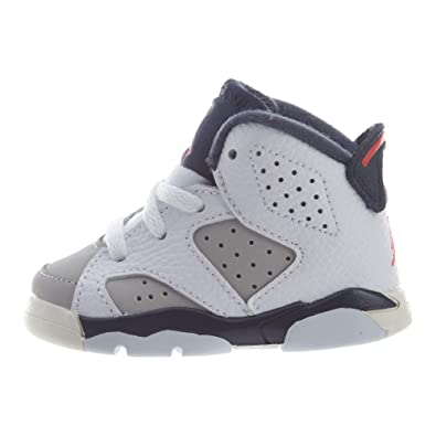 big sale 27d73 0816f Image Unavailable. Image not available for. Color  Nike Toddler Jordan 6  Retro Tinker White Infrared 23-Neutral ...