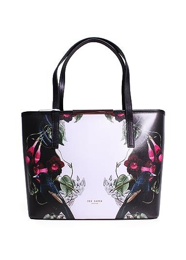 b10a9de5b1024 Ted Baker Handbag   Purse Leather Black Floral  Amazon.co.uk  Shoes   Bags