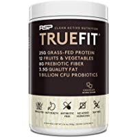 RSP TrueFit- Protein Powder Meal Replacement Shake for Weight Loss, Grass Fed Whey, Organic Real Food, Probiotics, MCT…