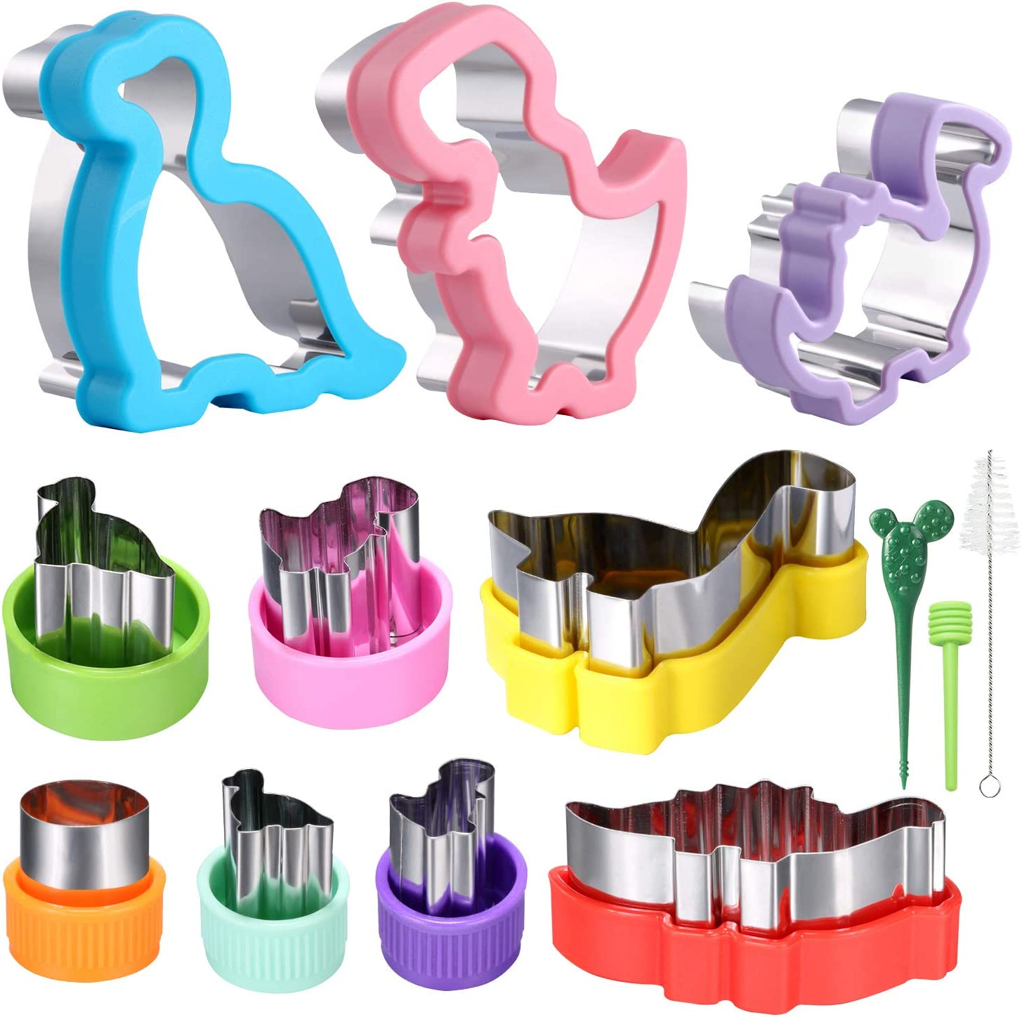 Dinosaur Cookie Cutter Set Sandwiches Cutter Set for Kids 9 Different Shapes and Sizes