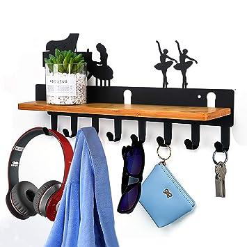 Ganchos para sombrero ahorro de espacio con 8 ganchos ropa bolsa soporte para puerta percha para armario