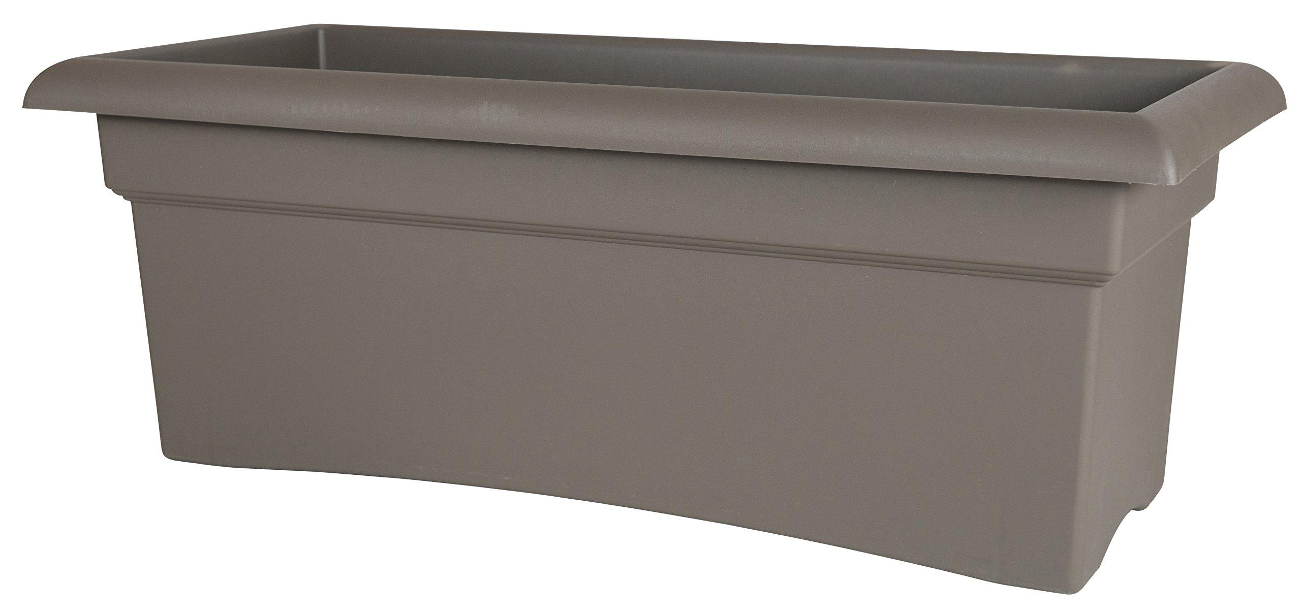 Bloem Fiskars 26 Inch Veranda 3 Gallon Rectangular Planter, Color Cement (57726)