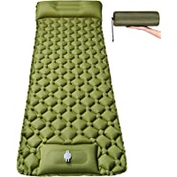 "Self Inflating Sleeping Pad for Camping - Large 78.7"" x 27.6"" Ultralight Camping Pad with Foot Pump Thick Waterproof…"