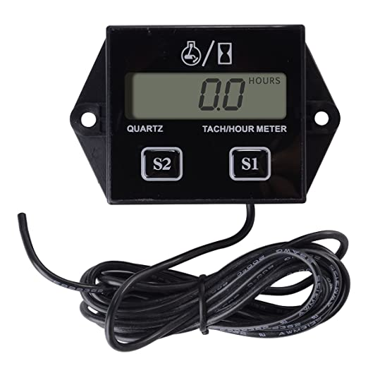 10 opinioni per Spark Plugs Engine Digital Tach Hour Meter Tachometer Gauge Motorcycle ATV TE101