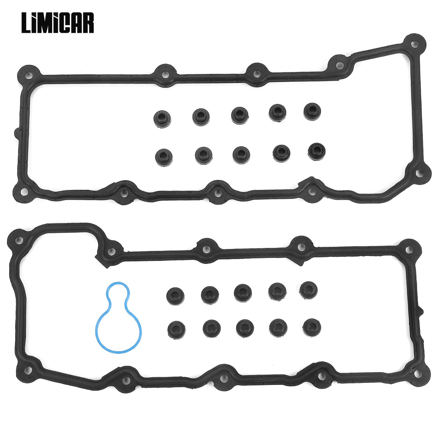 LIMICAR Cylinder Valve Cover Gasket For 2004-2005 Dodge Dakota Durango 2005 Dodge Ram 1500 Jeep Grand Cherokee 2002-2005 Jeep Liberty 3.7L V6 SOHC 12V Vin K VC50594R VC30300