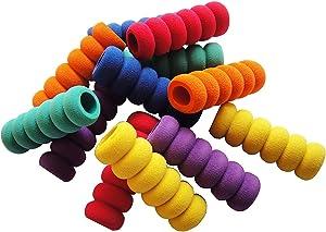 12 Pcs. Pencil Grips, Soft Cushioned Foam, Assorted Colors