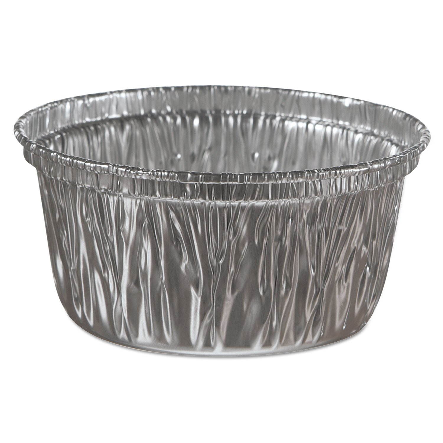 Aluminum Baking Cups, 4 Oz, 3 3/8 Dia X 1 9/16h By: Handi-Foil of America by Office Realm