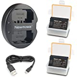 NP-FZ100 Newmowa Battery (2-Pack) and Dual USB Charger for Sony NP-FZ100, BC-QZ1 and Sony Alpha 9, Sony A9, Sony Alpha…