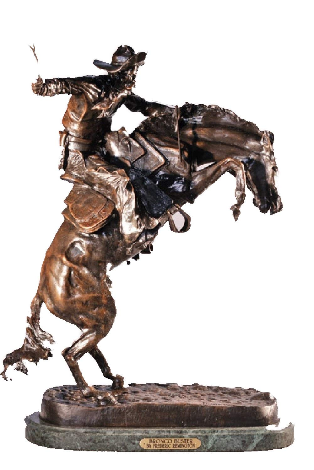 American Handmade Solid Bronze Sculpture Statue Bronco Buster By Frederic Remington Mini Size