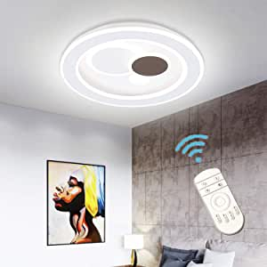 Ganeed Modern LED Ceiling Light,Dimmable Flush Mount Round Light Fixture with Remote (3000-6500K),LED Ceiling Lamp Chandelier Lighting Fixture,65W Ceiling Lighting for Living Room Bedroom Study