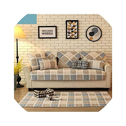 Amazon.com: Sofa Slipcovers Nordic Cotton Fabric Summer Sofa ...