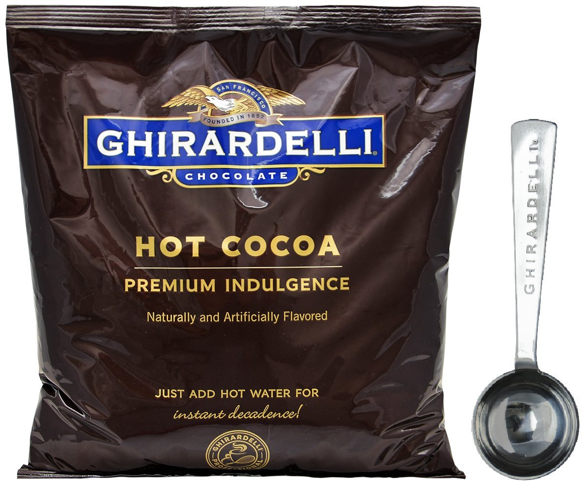Ghirardelli Chocolate - Hot Cocoa Premium Indulgence 2 lbs pouch - with 1.5 Tbsp Measuring Spoon