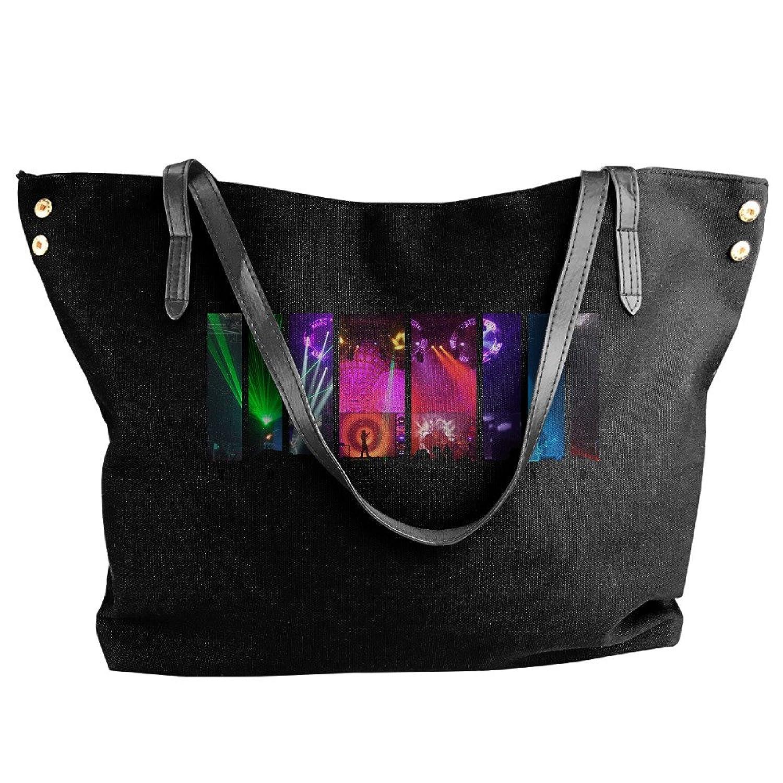 Tool Band Folding Shoulder Bag For Women Black