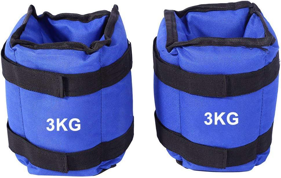 Juego de Pesas Ajustables para Tobillo y mu/ñeca 1 kg, 2 kg, 3 kg, 4 kg, 5 kg, 6 kg Zerone