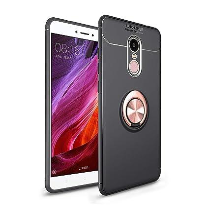 Ququcheng Funda Xiaomi Redmi Note 4,Carcasa Xiaomi Redmi Note 4 Silicona Cover+Pantalla de Vidrio Templado Absorción de Choque Resistente Caso Skin ...
