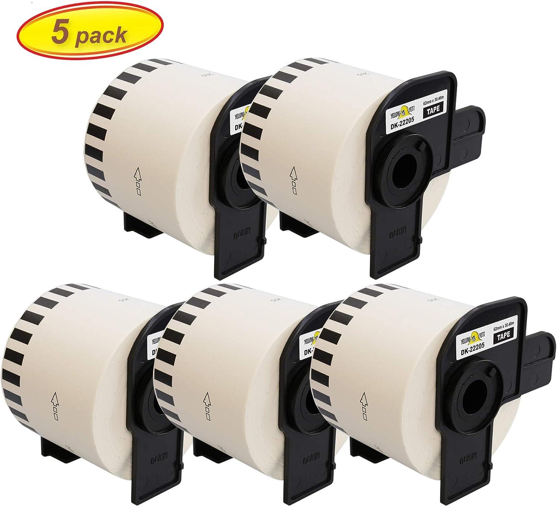 compatibile per Brother P-Touch QL-500//QL-550//QL-560//QL-570//QL-700//QL-710W//QL-720NW//QL-1050//QL-1060N Printing Pleasure Kit 3 DK-11209 29mm x 62mm Etichette adesive bianco Etichetta per rotolo: 800