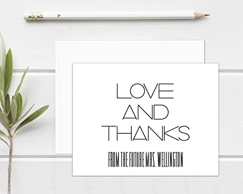 Thank You Cards Custom Wedding Shower Stationery Thank You from the future Mrs Personalized Bridal Shower Thank You Cards
