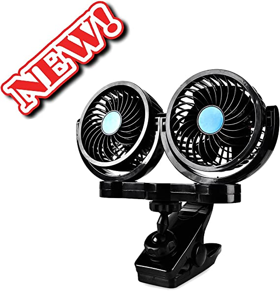 Afterpartz HX-02-12V - Ventilador doble para coche (12 V): Amazon ...