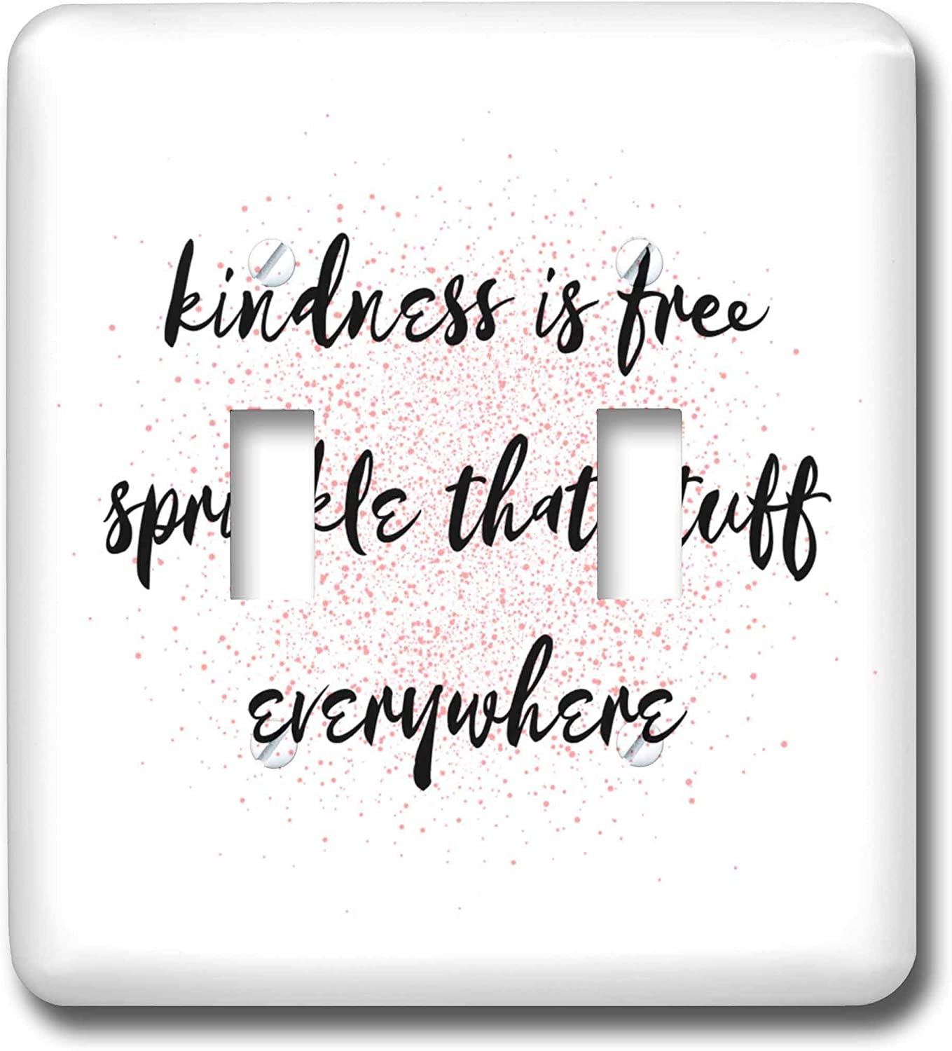 3drose Nicole R Quote Image Of Kindness Is Free Sprinkle That Stuff Everywhere Double Toggle Switch Lsp 309532 2 Amazon Com