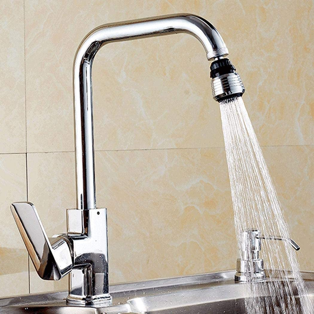 Kisshes 360 /° Filtro de Salida de Agua Cocina Ba/ño /Útil Grifo de Burbujas Ahorro de Derrame de Agua Home Filtro