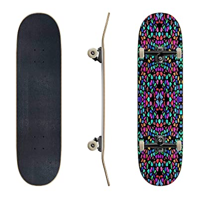 EFTOWEL Skateboards Glass Mosaic kaleidoscopic Seamless generated Hires Texture Wave Classic Concave Skateboard Cool Stuff Teen Gifts Longboard Extreme Sports for Beginners and Professionals : Sports & Outdoors
