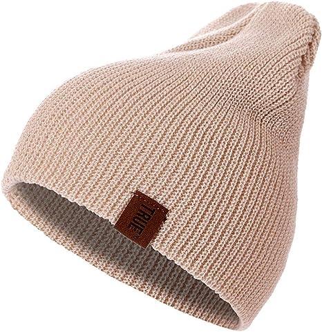 DDMGB Sombrero de Beanie PU Carta True Casual Gorros para Hombres ...