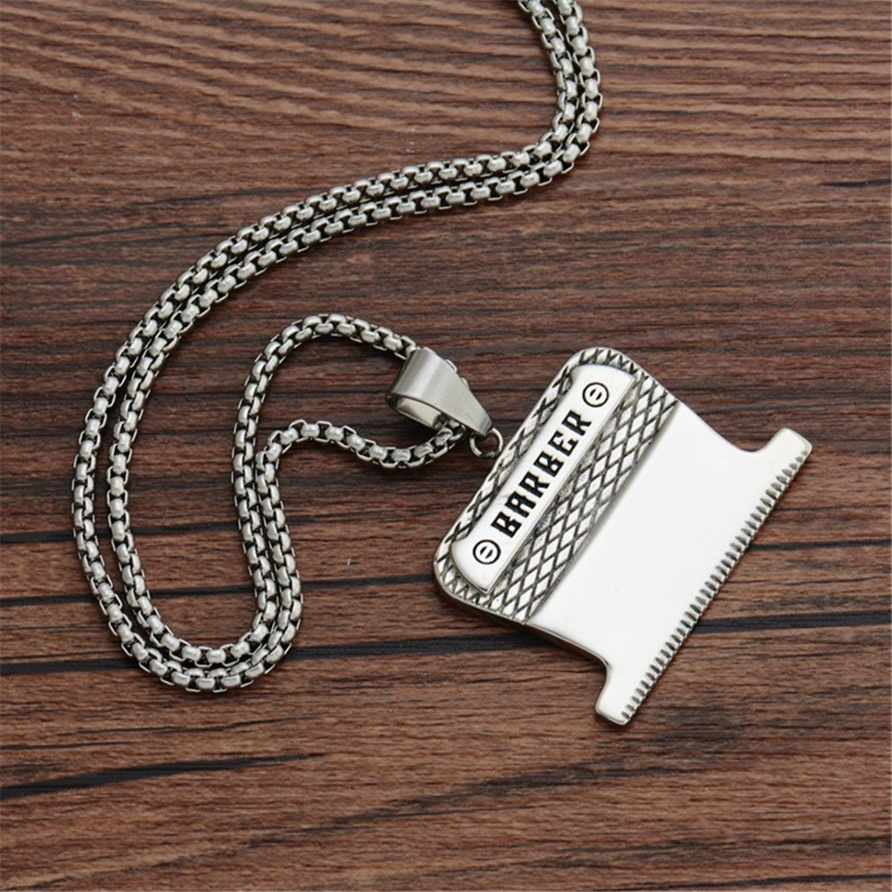 MCSAYS Hip Hop Jewelry Barber Blades Pendant Stainless Steel Special Design Necklace