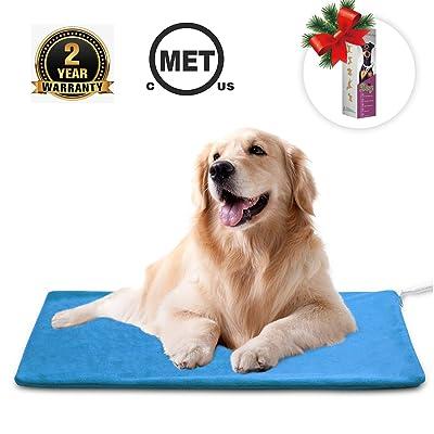 MARUNDA Pet Heating Pad,Cat Dog Electric Pet Heating Pad Indoor Waterproof,Auto Constant Temperature