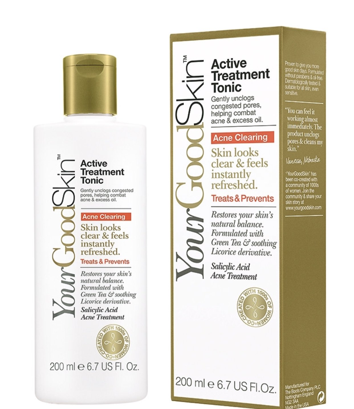 Amazon.com: YourGoodSkin Blemish Clearing Active Treatment Tonic ...