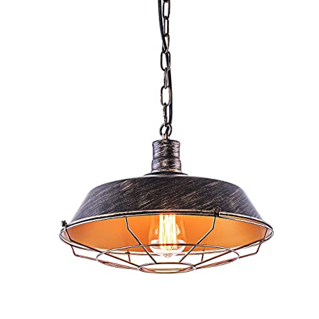 YISION Industrial Pendant Lighting E26 Rustic Hanging Light with ...
