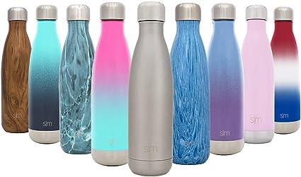 Simple Modern Wave 750 mL (25oz) Termo Botella de Agua - Acero Inoxidable 18/8, Doble Pared y Aislamiento Al Vacío Jarra Petaca Cantimplora Aislado ...