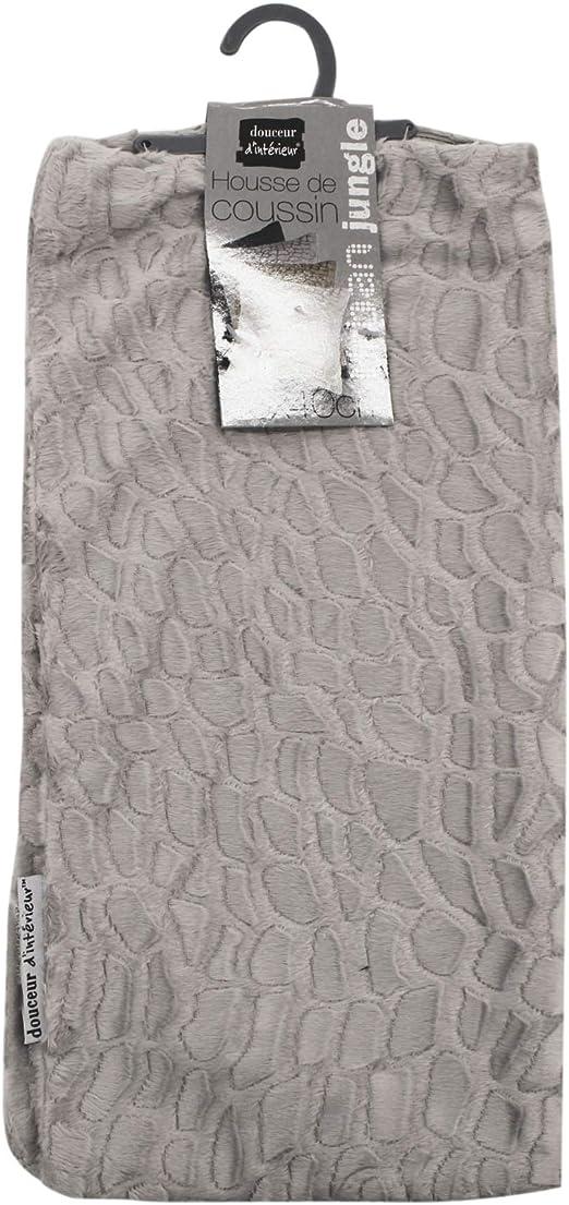 douceur dint/érieur housse de coussin  40x40 cm imitation fourrure tanzania sable