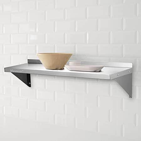 Voilamart 120x35cm 48x14 Stainless Steel Wall Shelf Wall Mounted