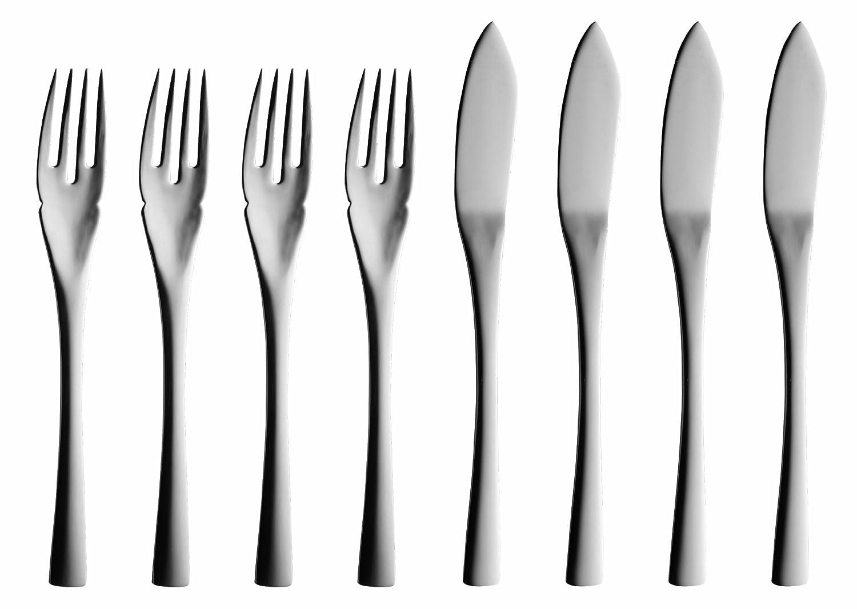 Solex Sophia 4-Piece Fish Knives, Set of 8, Metalic 200402568
