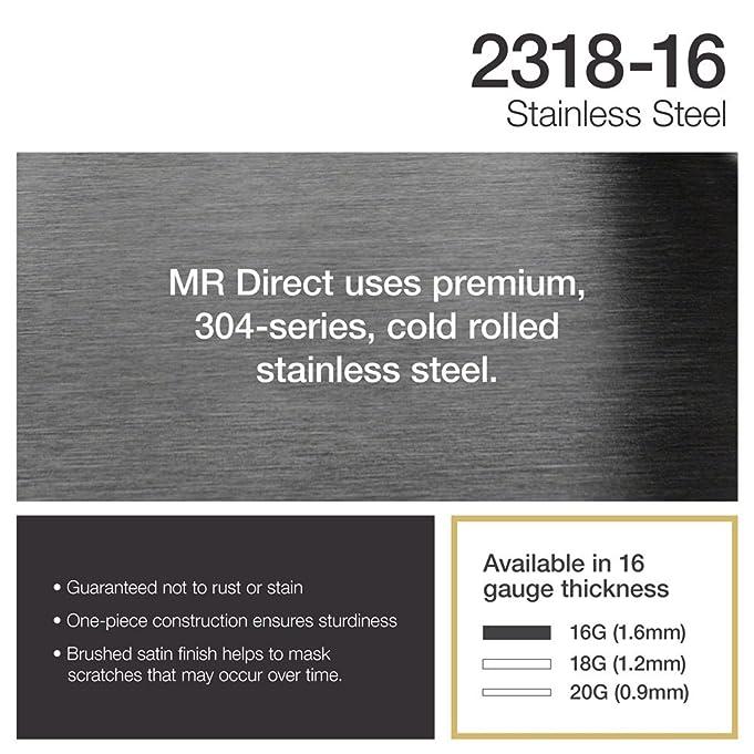 2318 16 Gauge Undermount Single Bowl Stainless Steel Sink   Bar Sinks    Amazon.com