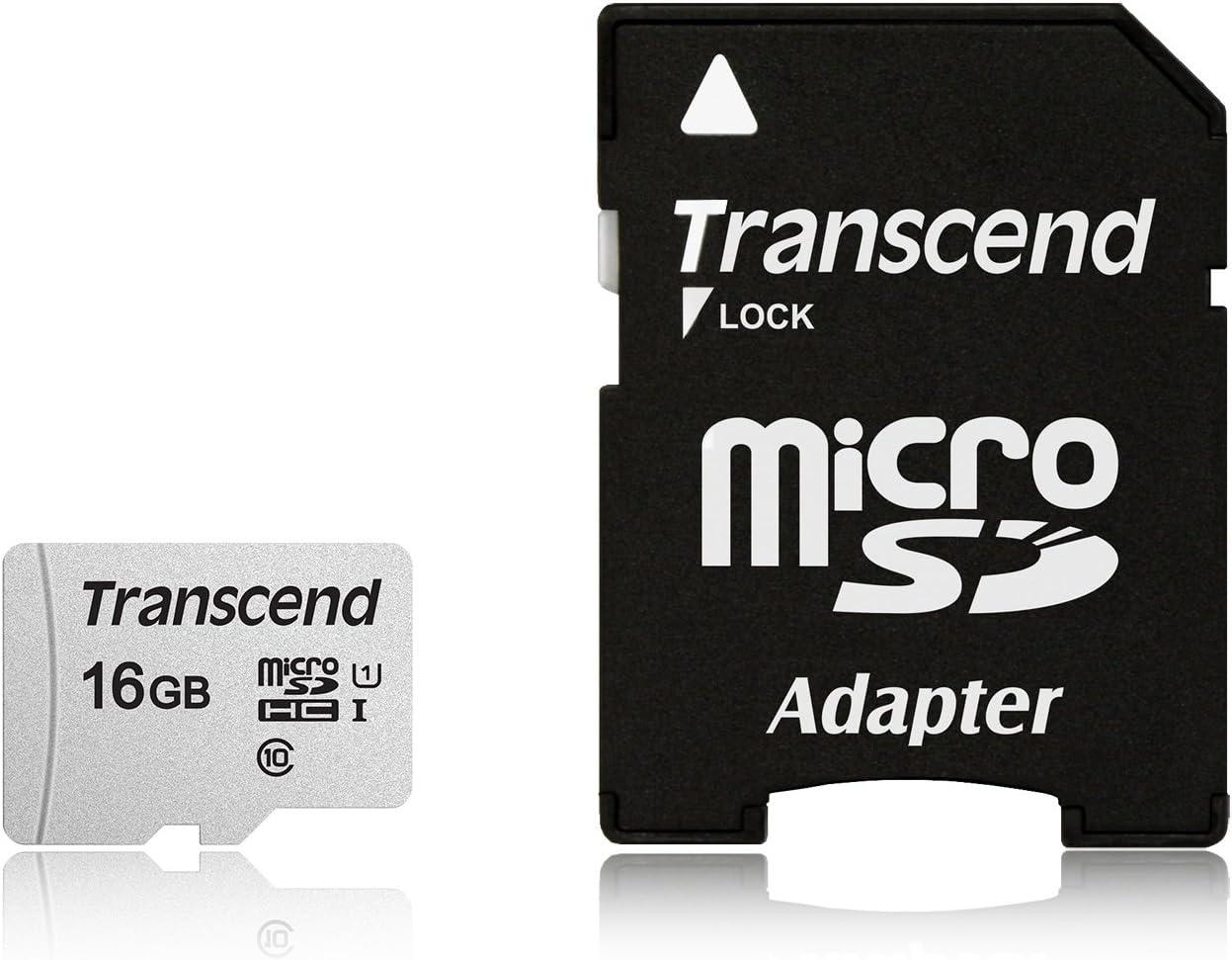 16GB Transcend Premium SDHC CL10 UHS-1 300x Memory Card