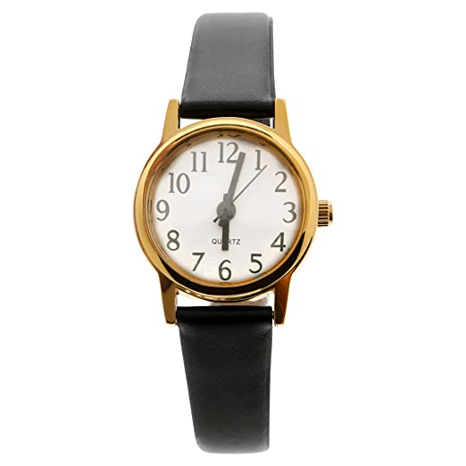 Kmart/Generic Womens leather black Watch: Amazon ca: Watches