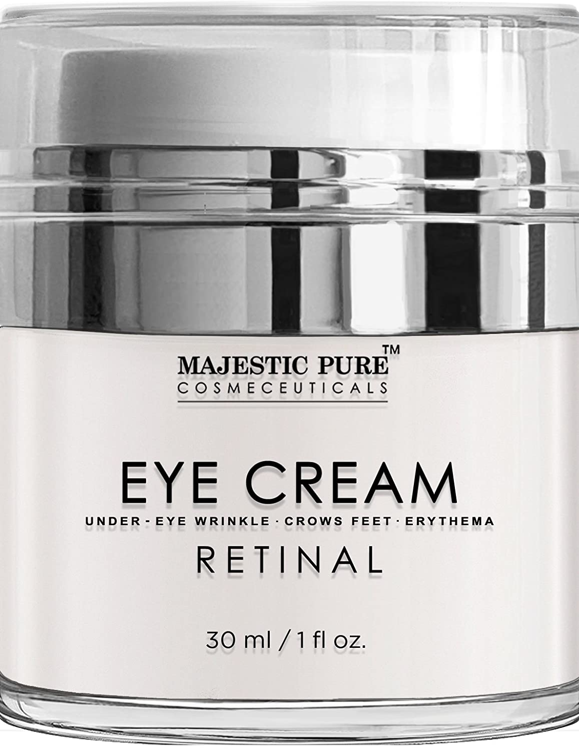 Majestic Pure Retinal Eye Cream, Reduces the Appearances of Winkles, Dark Circles, Puffiness, Crow Feet and Hyperpigmentation, 1 fl. oz