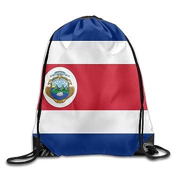 MaJack Bandera de Costa Rica Personalizada Gimnasio con cordón Bolsas de Viaje Mochila Tote Mochila Escolar