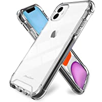 """ProCase iPhone 11 Case Clear, Slim Hybrid Crystal Clear TPU Cushion Cover with Reinforced Corners, Transparent Scratch Resistant Rugged Cover Protective Case for iPhone 11 6.1"""" (2019 Release) –Clear"""