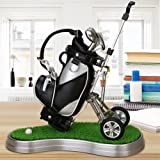 Golf Geschenk Mini Büro Golf Stifthalter mit 3Sets Aluminium Legierung Golf Stifte