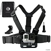 CamKix replacement Chest Mount Harness compatible with Gopro Hero 6, 5, Black, Session, Hero 4, Session, Black, Silver, Hero+ LCD, 3+, 3, 2, 1 – Fully Adjustable Chest Strap
