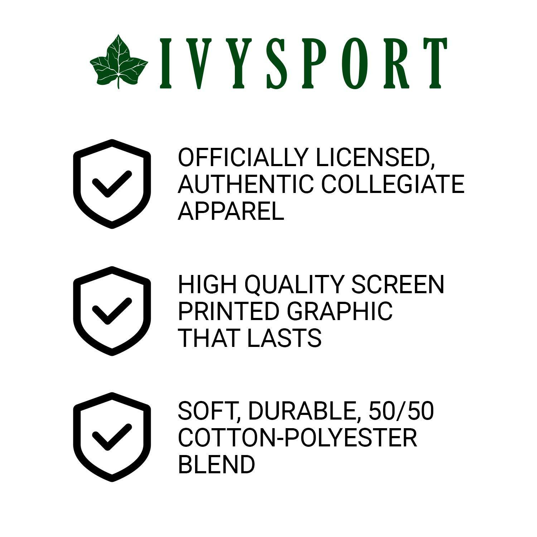 NCAA Colleges Grey Heritage Logo Cotton Poly Blend Ivysport Short Sleeve T-Shirt