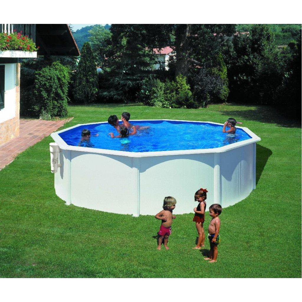 Gre KITPR453 Bora Bora - Piscina Elevada Redonda, Aspecto Acero Blanco, 460 x 120 cm: Amazon.es: Jardín