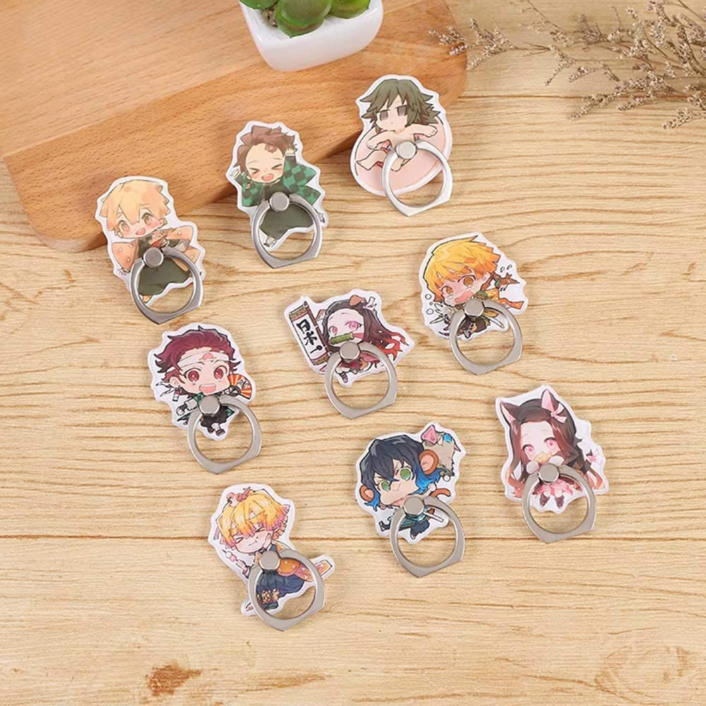 Anime Phone Ring with 360/° Rotation Hand Grip for Cell Phones and Tablets Chutoral Demon Slayer Phone Stand