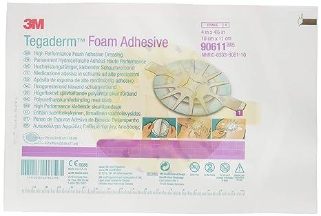 Apositos 3M Tegaderm Foam Adhesivos 10 x 11 cm Caja de 10