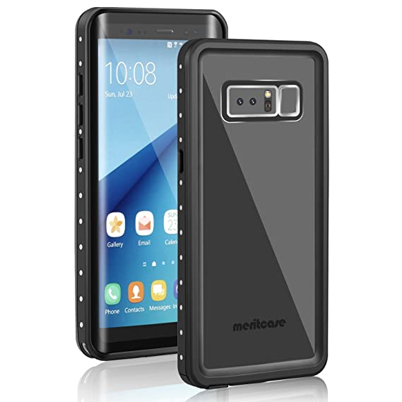 585dd38944c7cc Samsung Galaxy Note 8 Waterproof Case, Meritcase Galaxy Note 8 IP68  Waterproof Full Body Snowproof