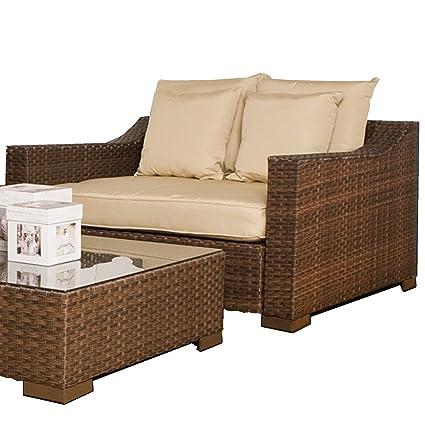Amazon Com Thomas Wicker Deep Seating Patio Arm Chair Sunbrella