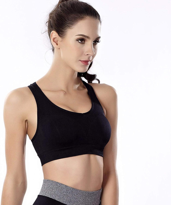 Details about  /aoqininu Womens Sports Bra Fitness Racerback Workout Yoga Bras