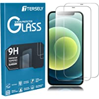 TERSELY Screen Protector for iPhone 12 Pro/iPhone 12 (6.1 inch), [2 Pack] 9H Case Friendly Tempered Glass Screen…